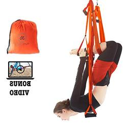 Aum Active Aerial Yoga Swing Set - with Free Inversion Class