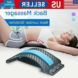 Back Stretcher Device Massager Lumbar Support Pain Relief fo