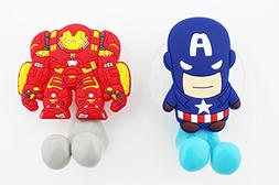 FinexSet of 2 MARVEL AVENGERS Captain America & Ironman Toot