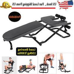 Fitness Yoga Inversion Table Chair Foldable Adjustable Heavy