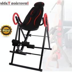 Foldable Fitness Gravity Inversion Table Back Pain Relief Ex