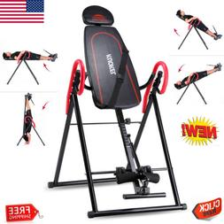 Foldable Inversion Table Back Therapy Pain Flip Fitness Heav