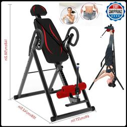 Foldable Inversion Table Heavy Duty Gravity Back Therapy Fit