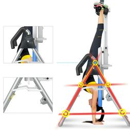 Foldable New Premium Gravity Inversion Table Back Therapy Fi