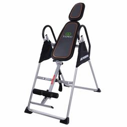 Goplus Foldable PU Premium Gravity Inversion Table Back Ther
