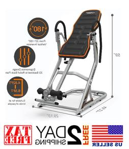 Heavy Duty Inversion Table for Back Pain Relief 350LBS Cap w