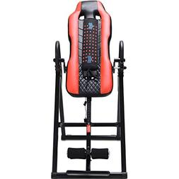 Gymax Inversion Table, Vibration Massage & Heat Comfort Inve