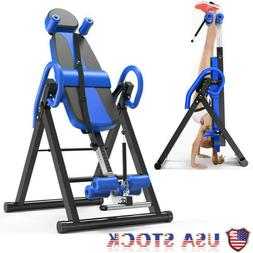 Inversion Table Chiropractic Back Stretcher Heavy Duty Fitne