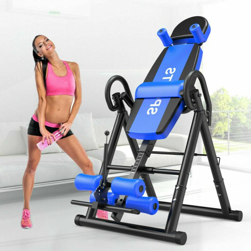 180home folding inversion table fitness chiropractic therapy