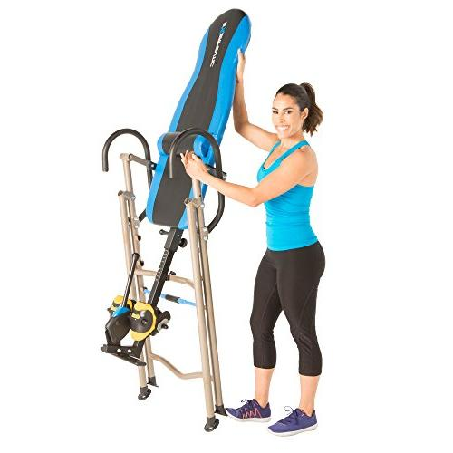 Exerpeutic with No Pinch Ankle Holders, Safety Ratchet System, and Support