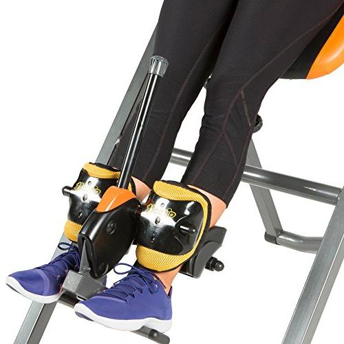 Exerpeutic 475SL Inversion Table with AIRSOFT No Ankle Holders SURELOCK Safety Ratchet