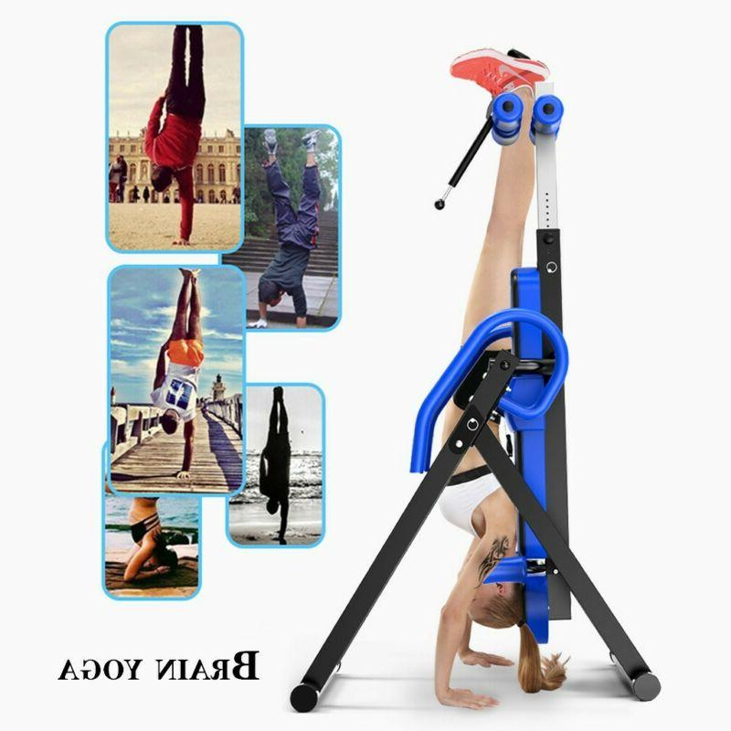 US NEW Foldable Premium Gravity Inversion Table Back Therapy