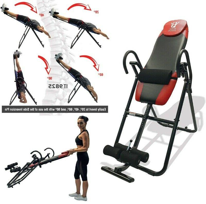 anti gravity inversion table back therapy exercise