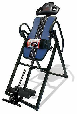 Body Vision Deluxe Heat and Massage Inversion Table Blue
