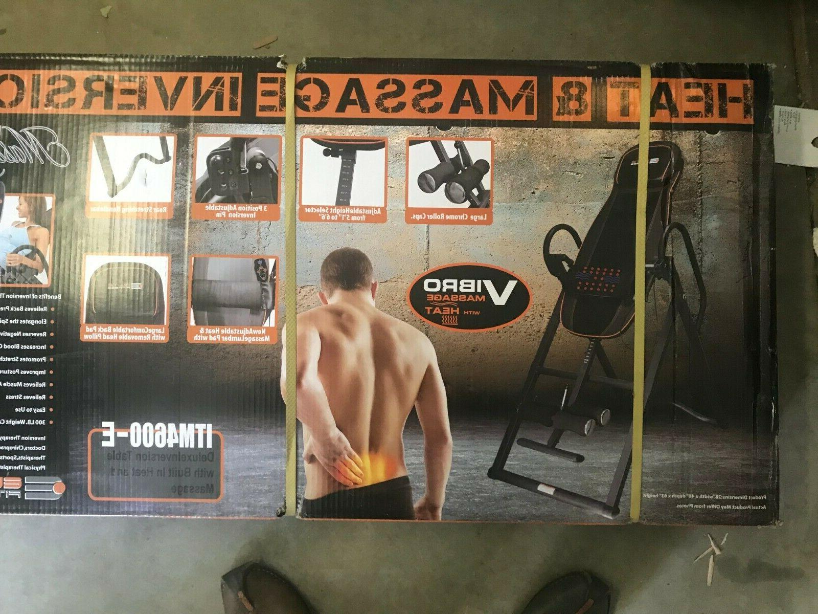 deluxe heat and massage inversion table itm