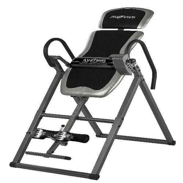 fitness deluxe inversion table heavy duty therapy