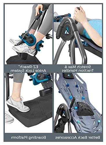 Teeter LX9 Inversion Table, Deluxe Easy-to-Reach Back Pain Kit,