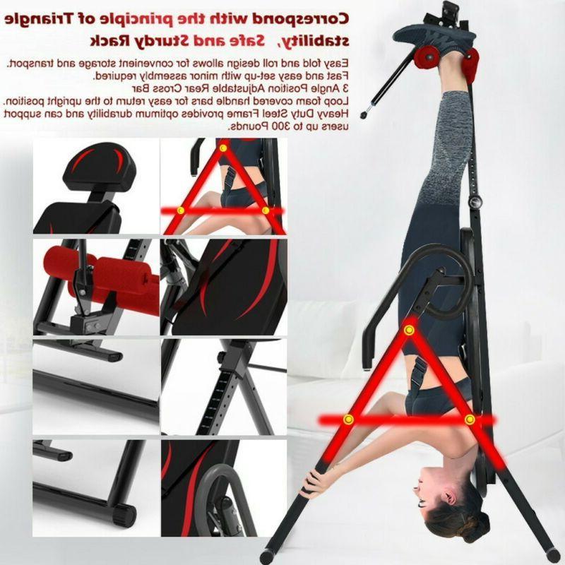Foldable Inversion Gravity Back Neck Bench Home Fitness