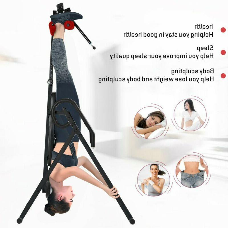 Foldable Inversion Table Gravity Back Neck Bench Fitness