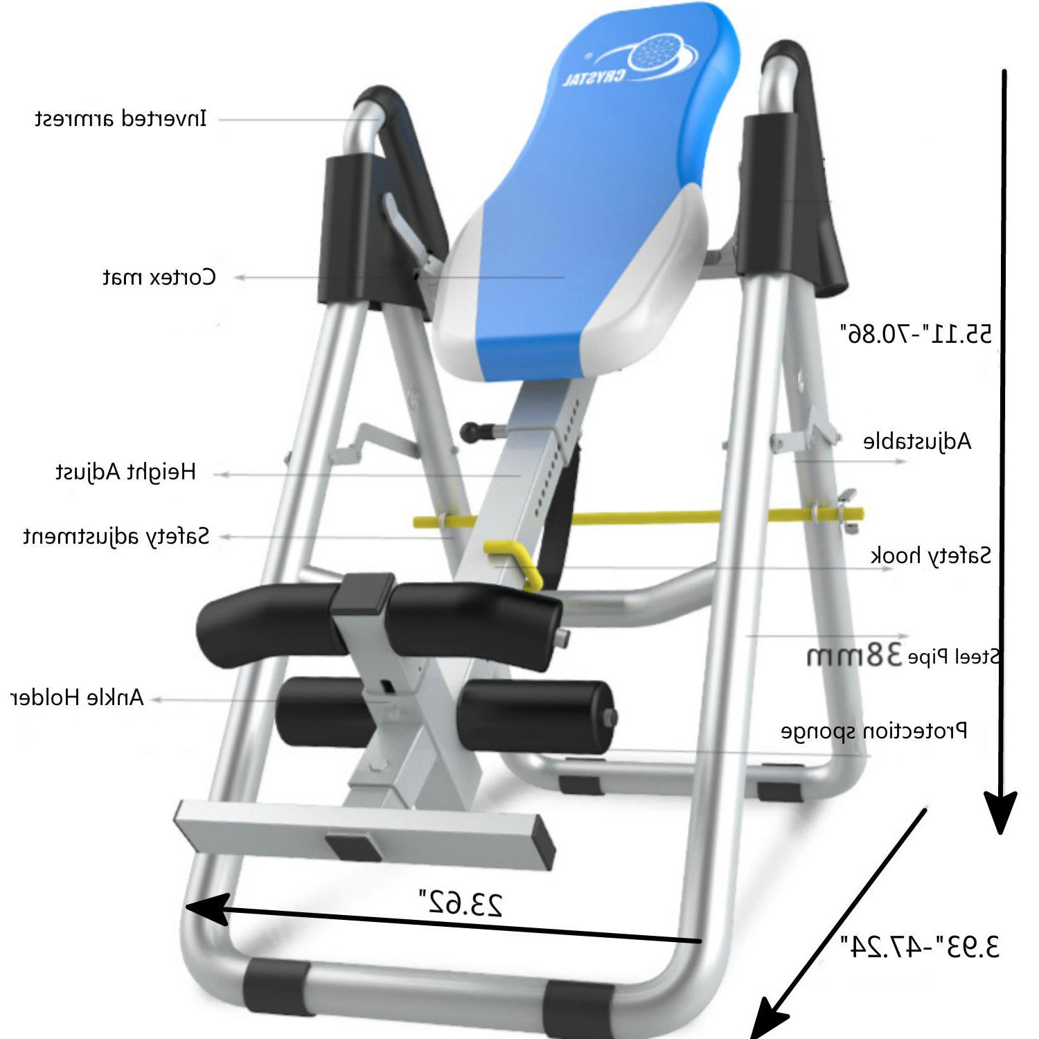 Foldable New Inversion Table Fitness Reflexology