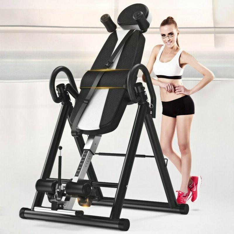 Home Fitness Inversion Table Teeter Back Therapy Heavy Duty