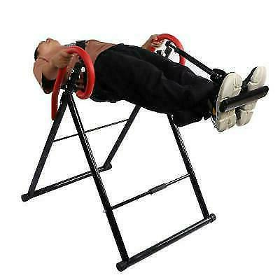 Folding Inversion Therapy Gravity Back Neck Exercise Bench Home Pain