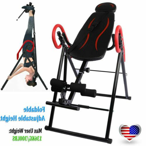 folding inversion table therapy gravity back neck