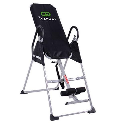 Goplus Inversion Adjustable Folding Back Therapy Reflexology