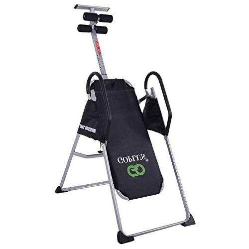 Goplus Gravity Therapy Inversion Table Back Therapy Reflexology