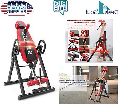 Yoleo Heavy Inversion Table with Adjustable Headrest &