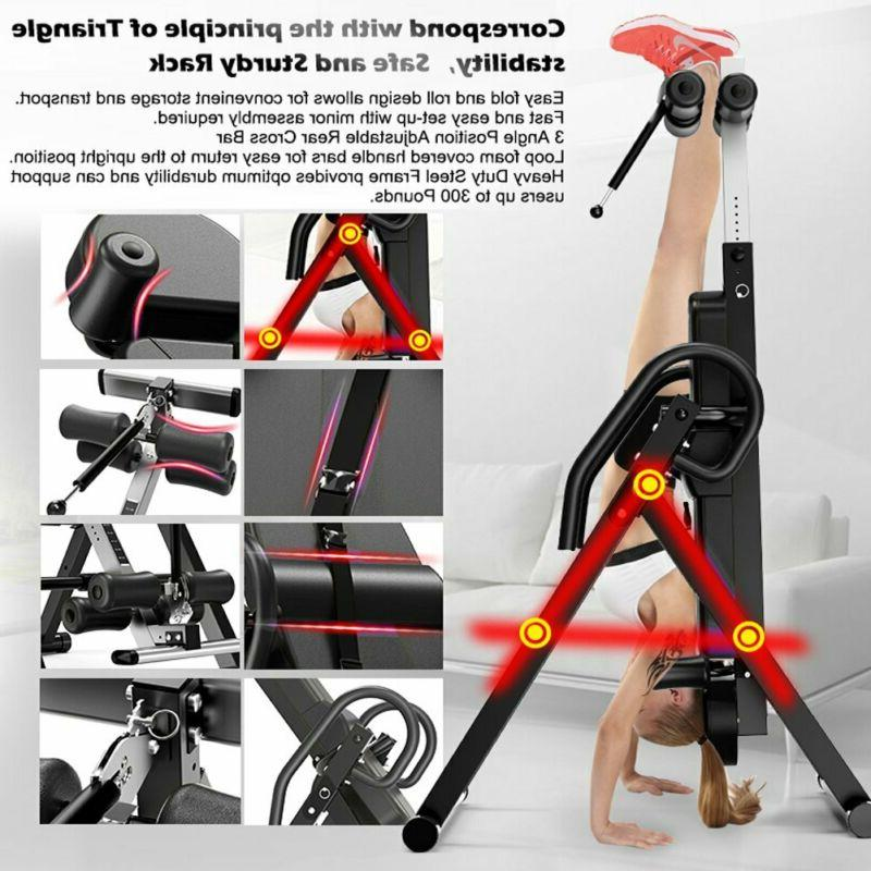 Yoleo Inversion Table With Headrest Adjustable B