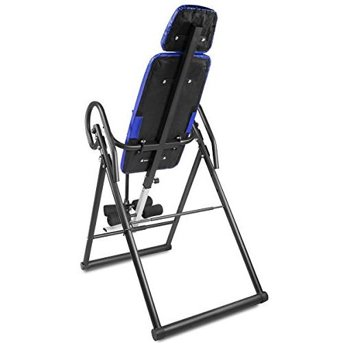 XtremepowerUS Gravity Inversion Therapy Table Back Adjustable-PU Leather