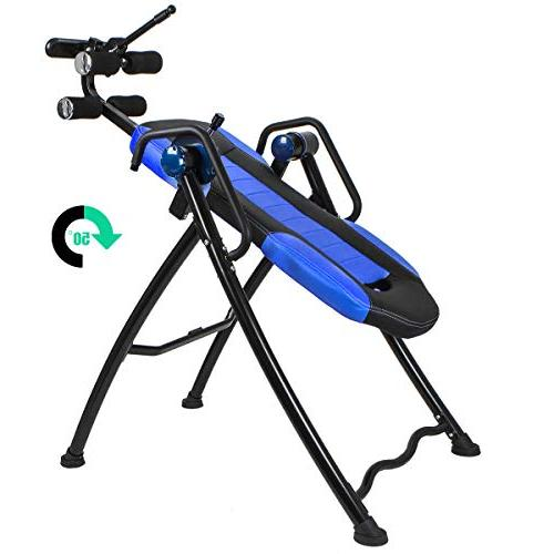 XtremepowerUS Gravity Inversion Therapy Table Relief w/Heat Padded
