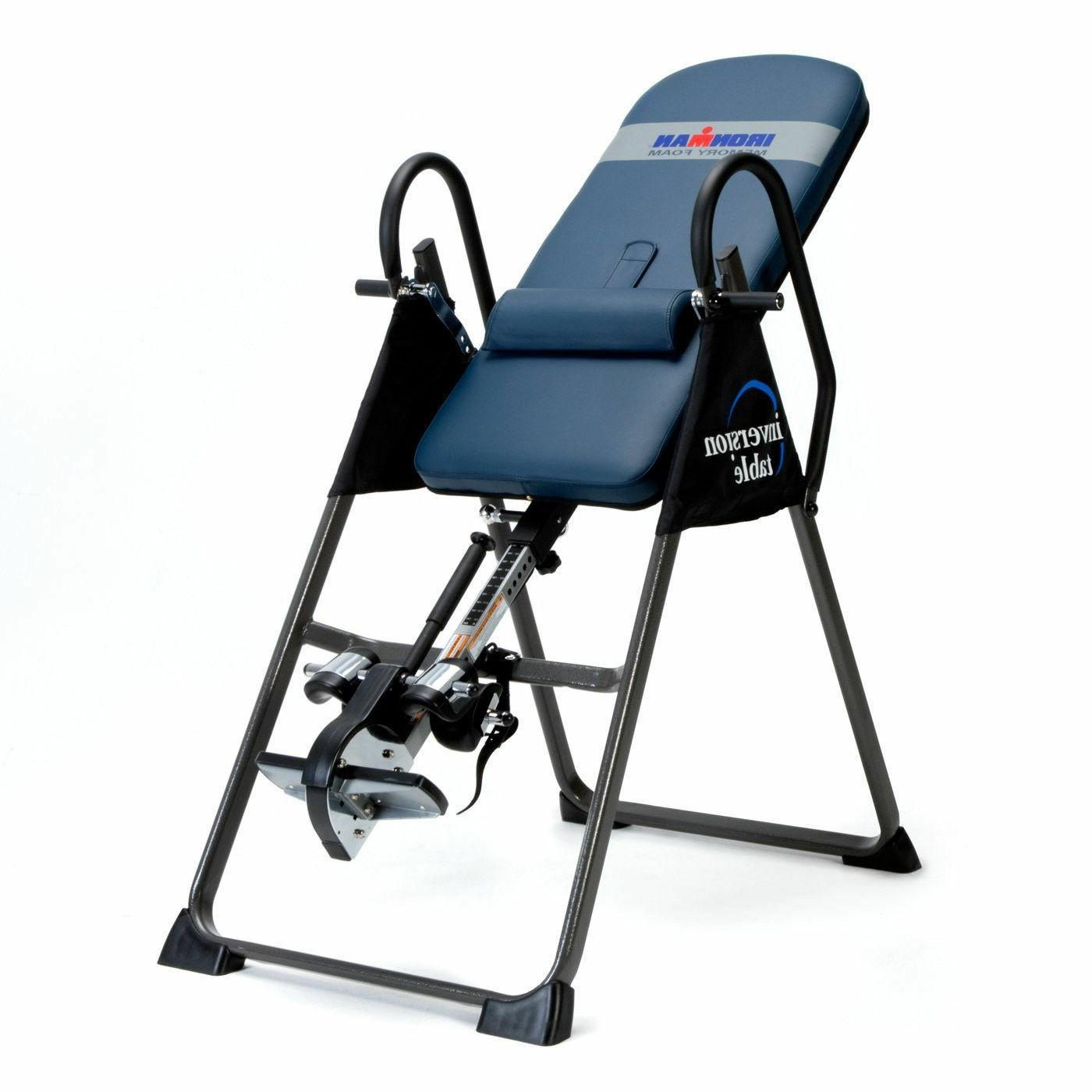gravity ironman 4000 inversion therapy table fitness