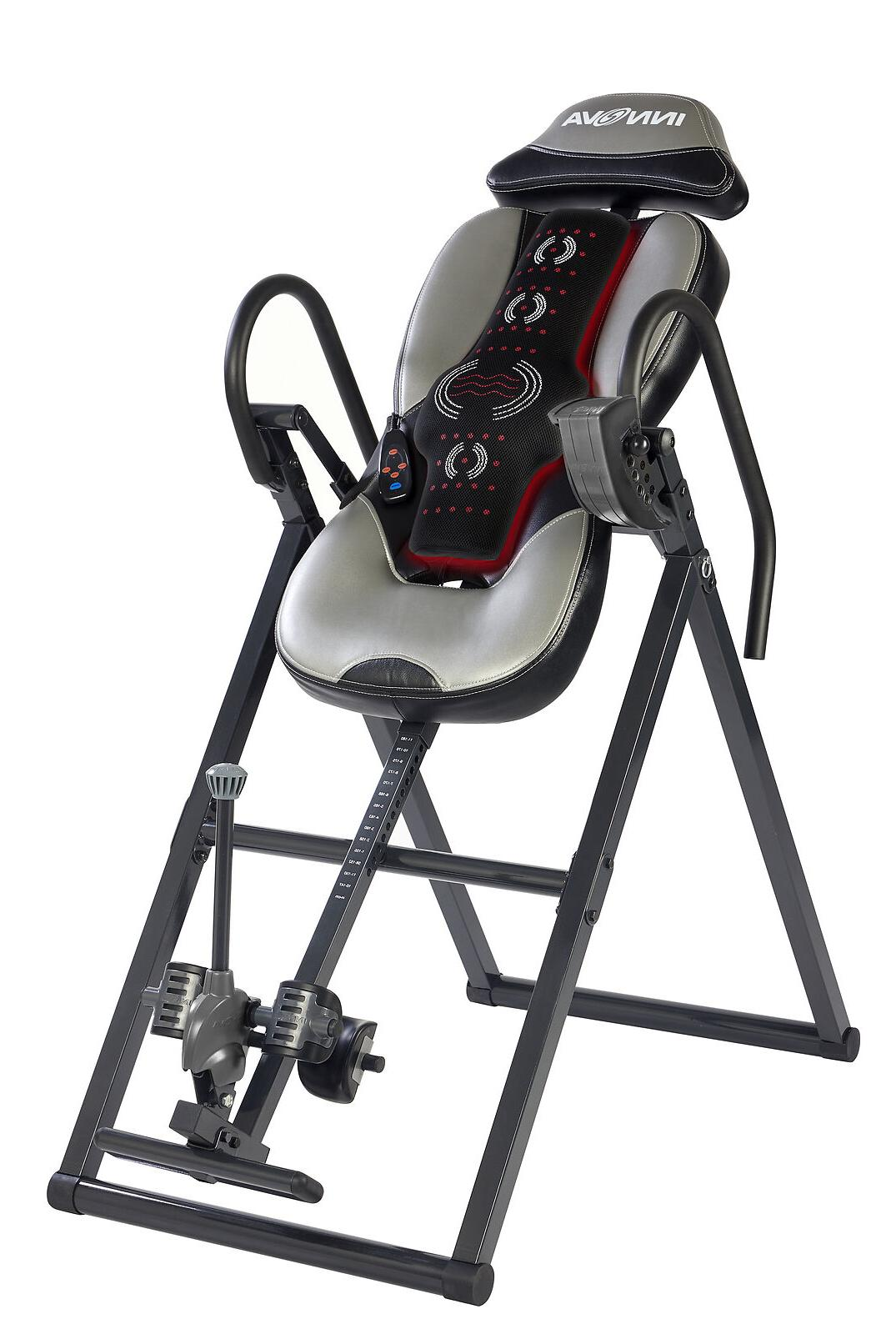 Heat Massage Inversion Therapy Table Therapeutic Fitness Bac