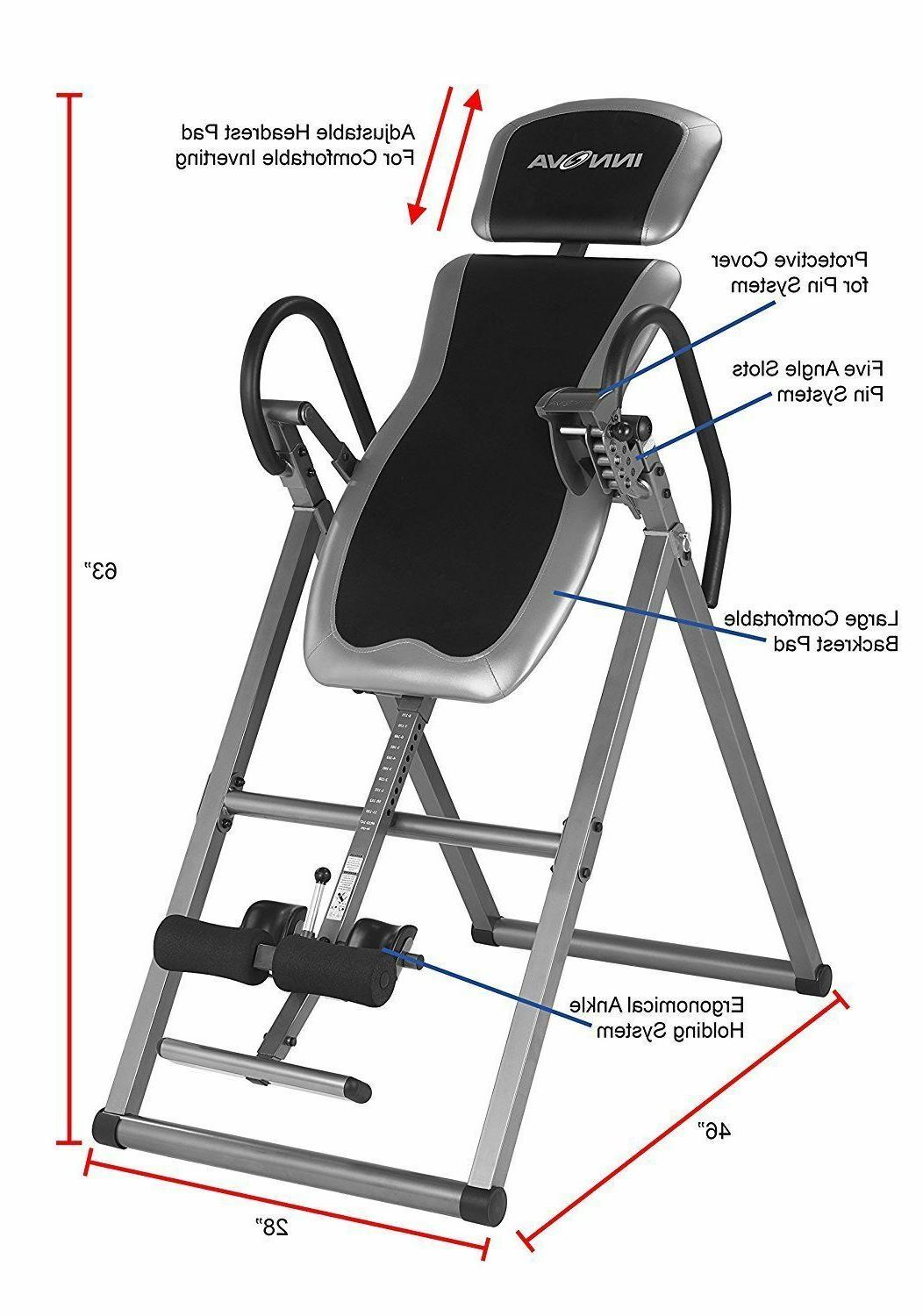 heavy duty gravity inversion table fitness back