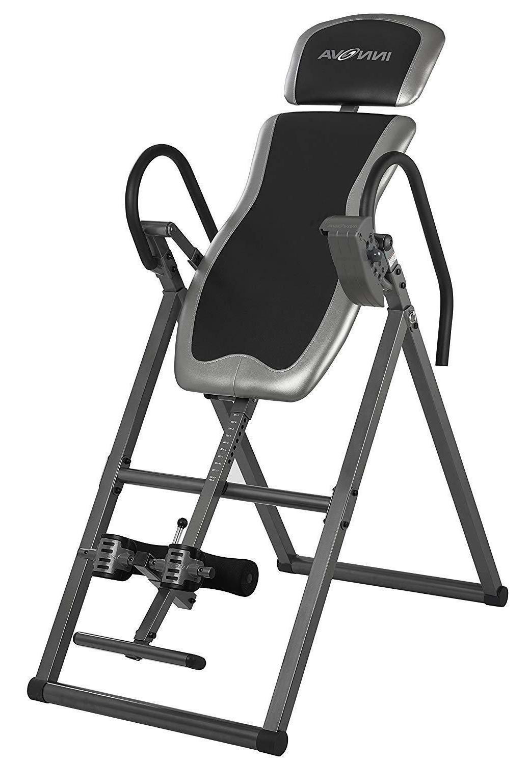 heavy duty inversion table with adjustable headrest