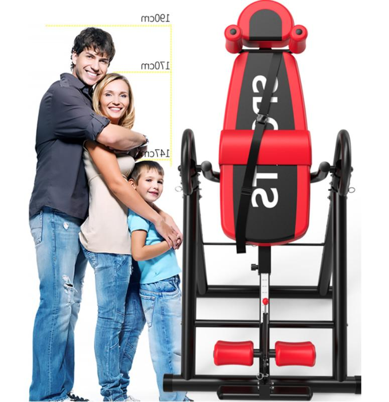 Foldable Inversion Table Body Back Pain Exercise Fitness Gra