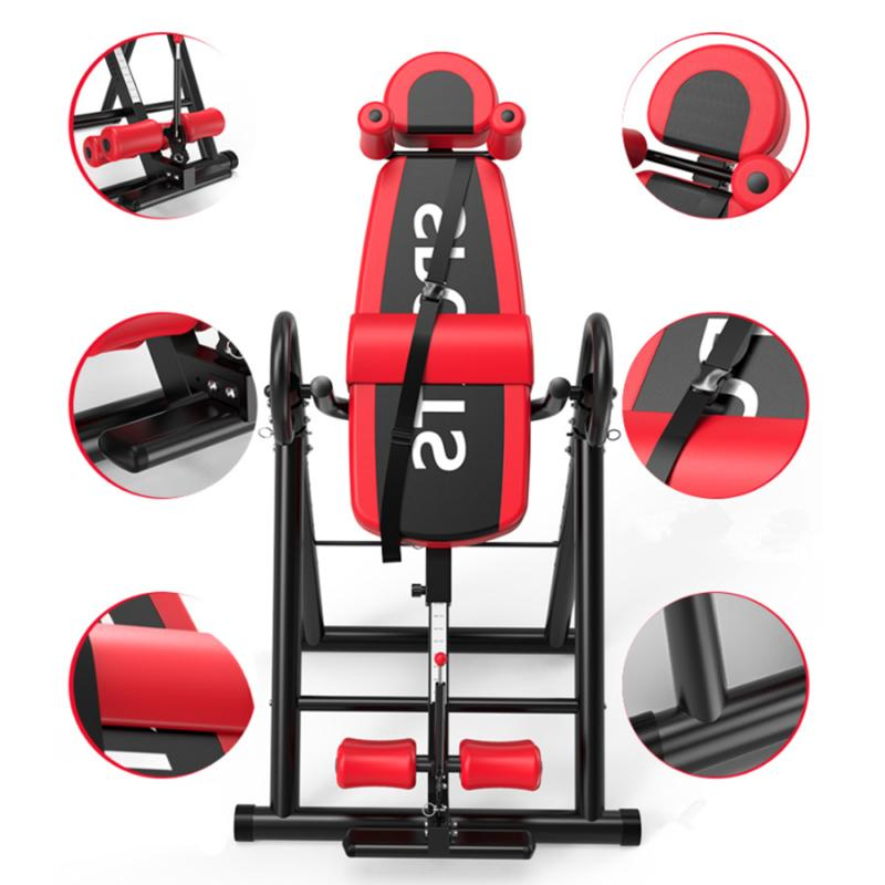 Foldable Inversion Table Back Exercise Fitness Gravity