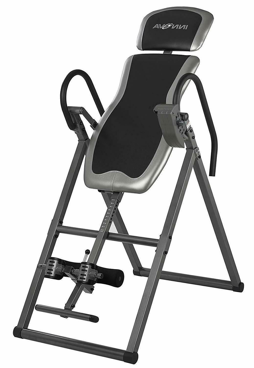 innova fitness deluxe inversion table heavy duty