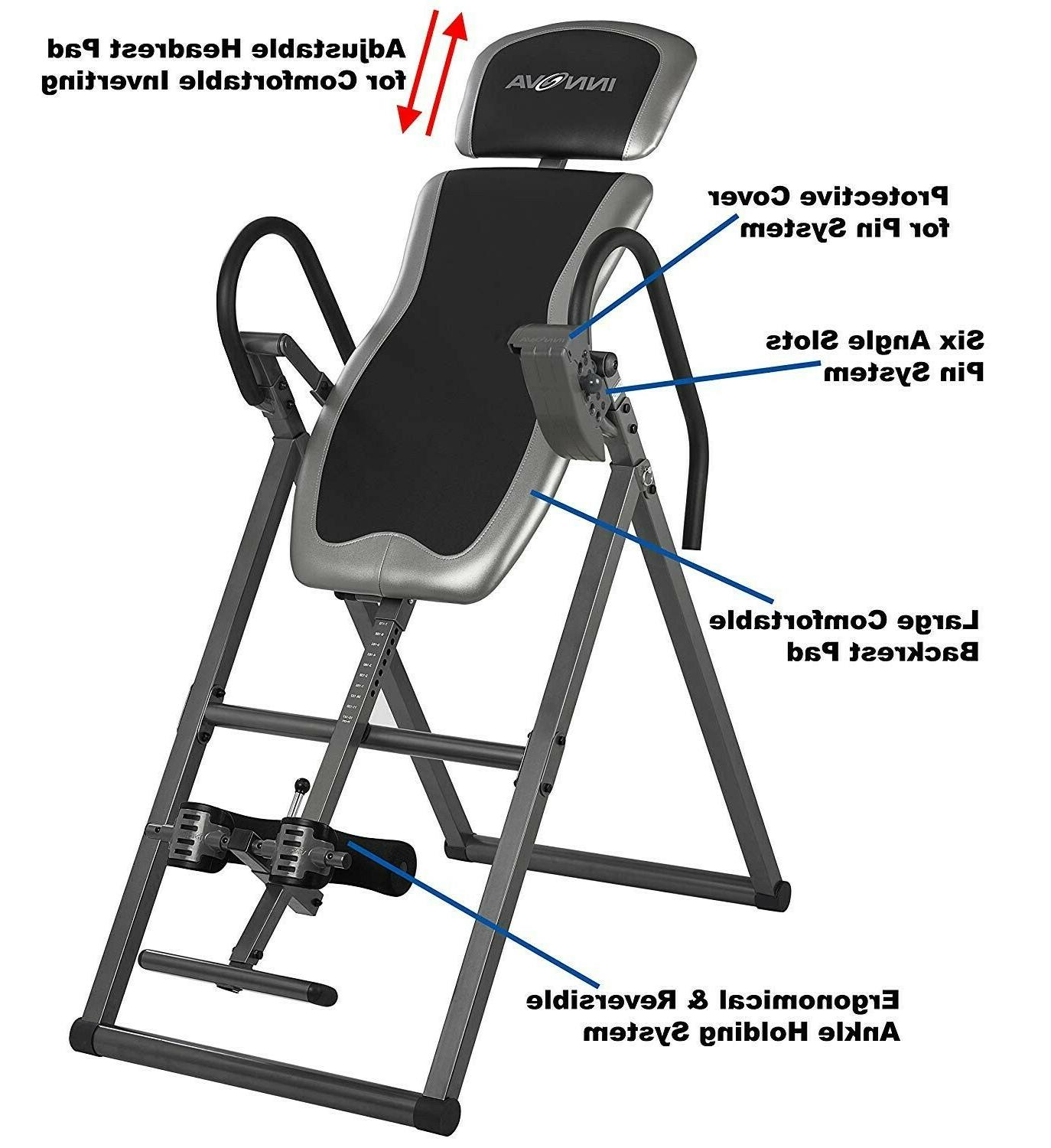 innova heavy duty inversion table with adjustable