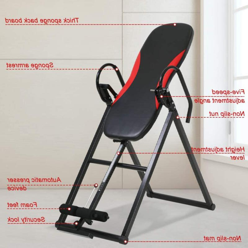 Inversion Heavy Duty Foldable Therapy Table Up 300 Lbs 5