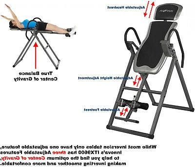 Inversion Table Back Pain Therapy Adjustable Teeter Chair Hang