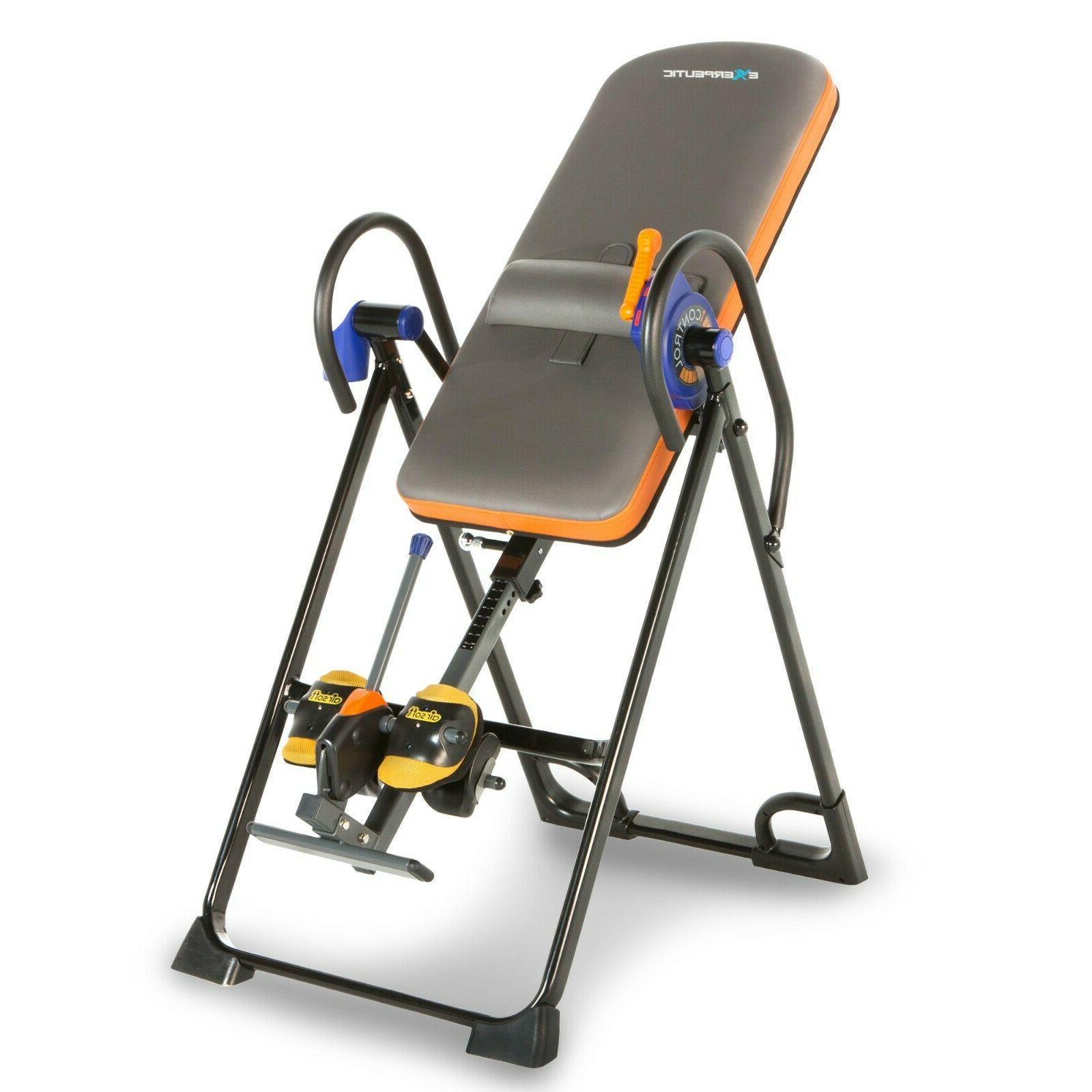 inversion table back therapy heavy duty fitness
