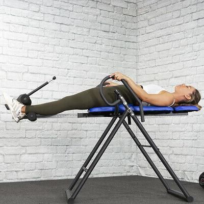 inversion therapy table back pain 300 lb