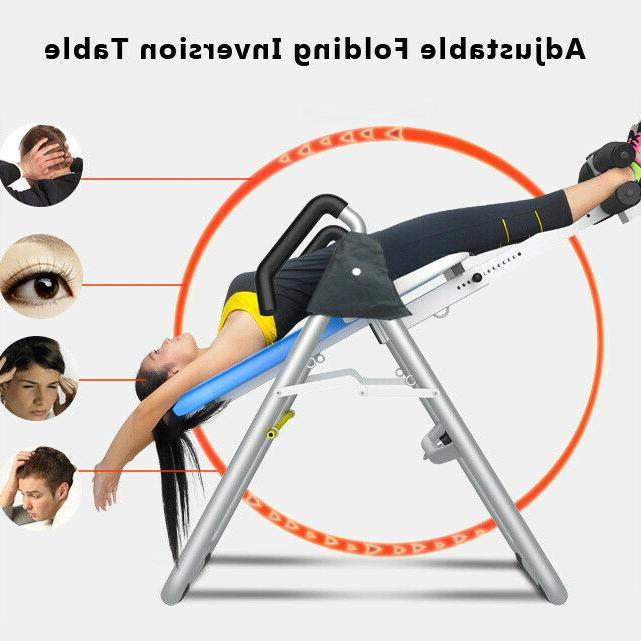 inversion table hanging up foldable fitness back