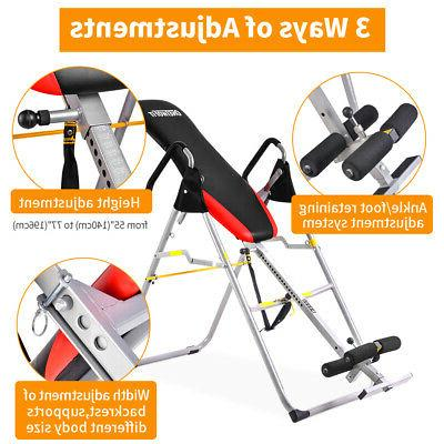 Foldable OneTwoFitOT079 Gravity Inversion Table Back Therapy