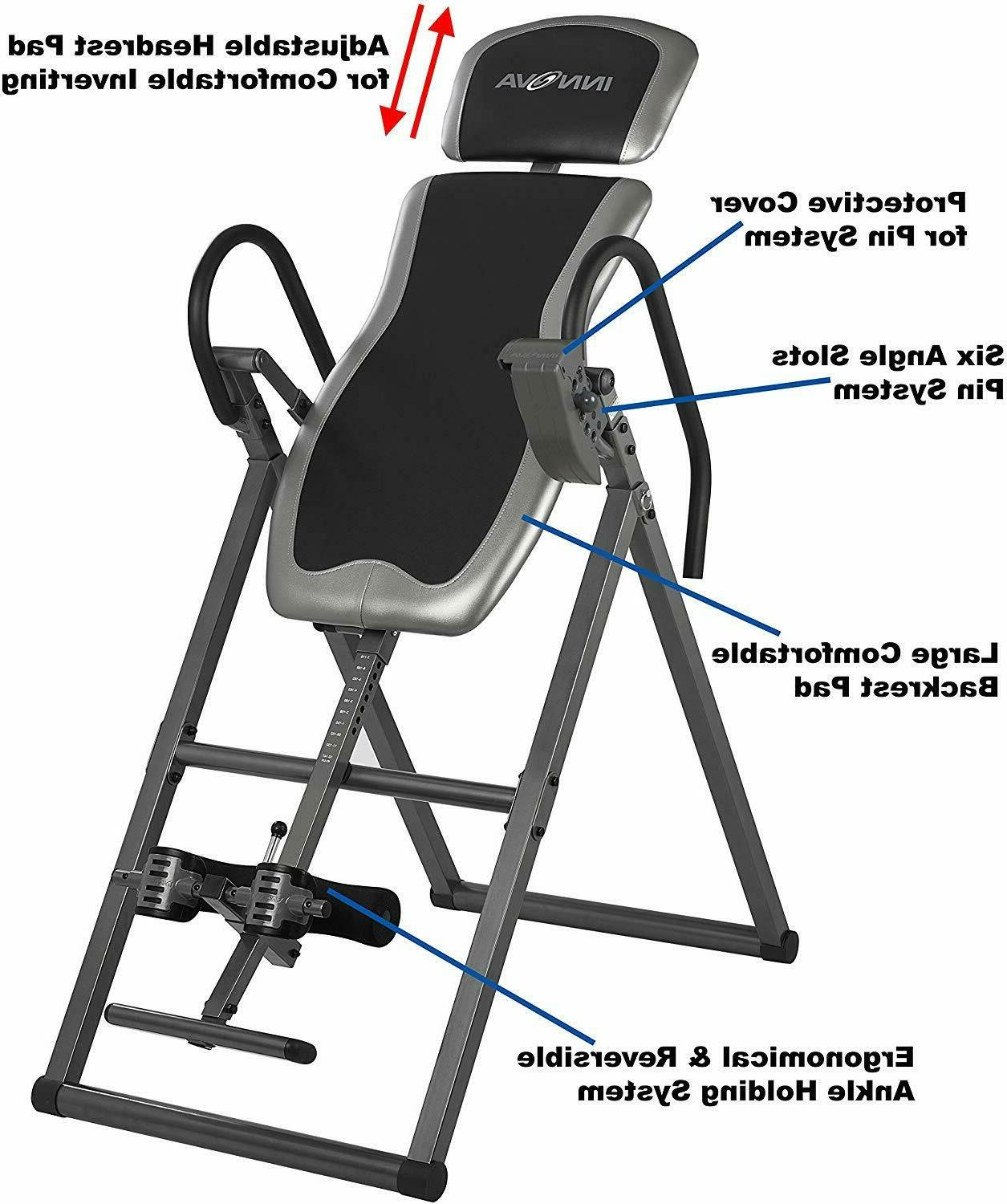 Inversion table Heavy Duty 300lb-max Home Exercise Fitness H