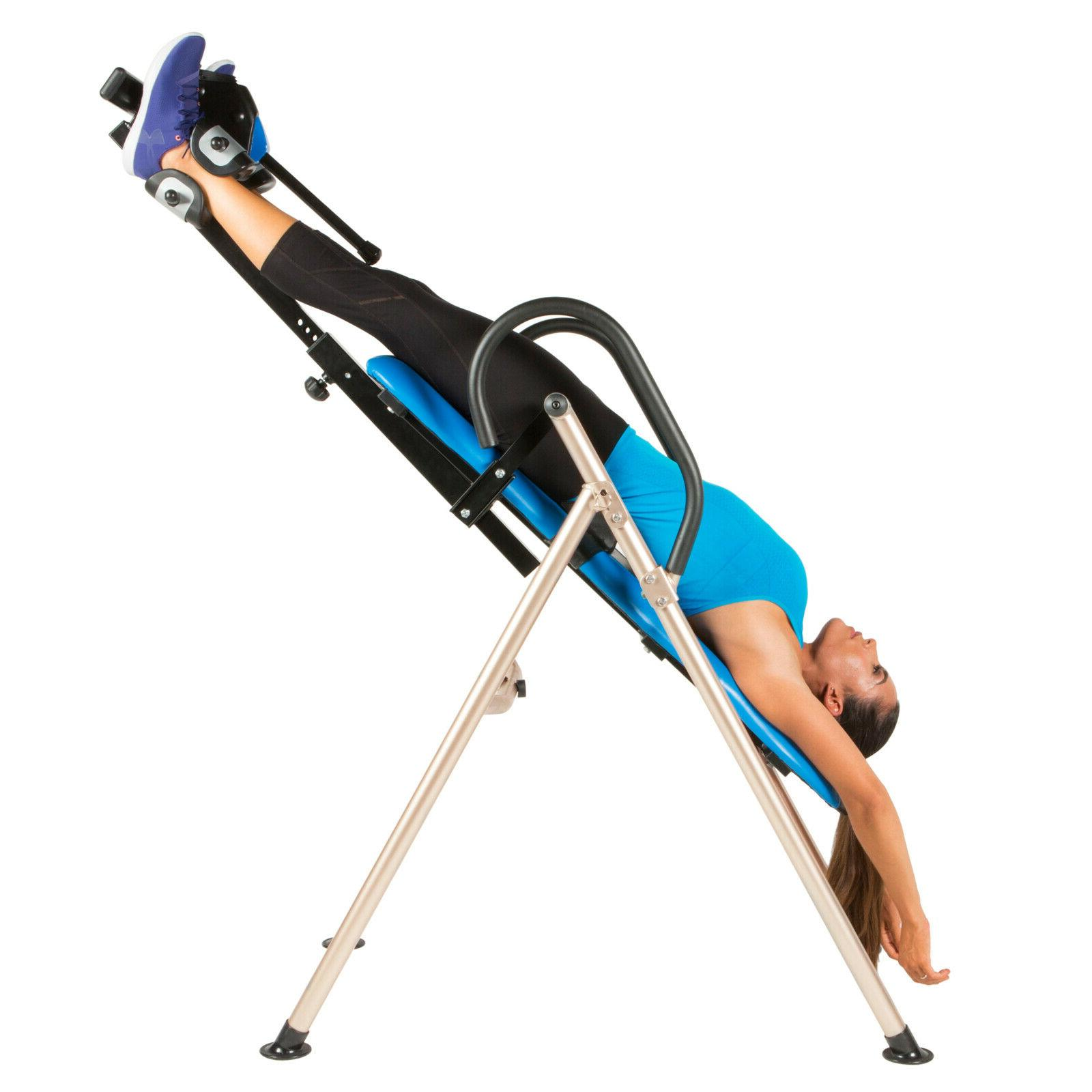 inversion therapy table fitness padded back rest