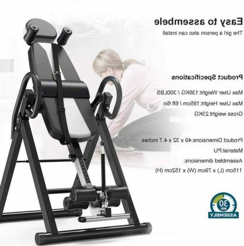 New Premium Inversion Back Therapy Fitness Reflexology